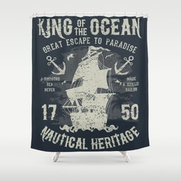 King of the Ocean Shower Curtain