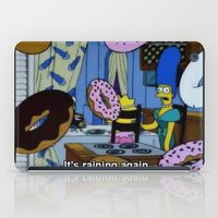 simpsons iPad Cases featuring Simpsons - Doughnuts by Katieb1013