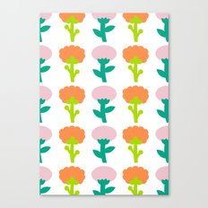 Retro Flower Canvas Print