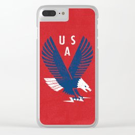 USA War Eagle Clear iPhone Case