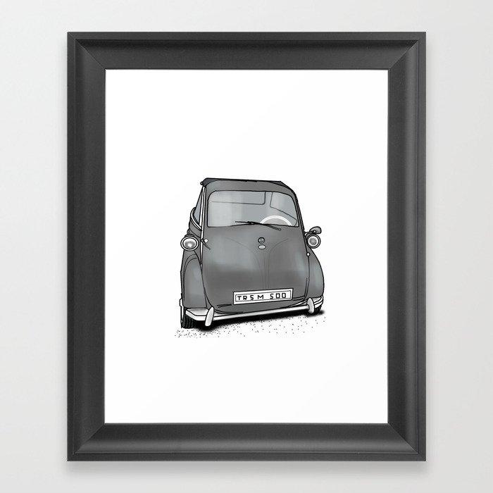 retro car . artwork Framed Art Print