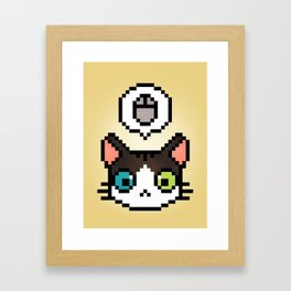 Pixel cat Framed Art Print