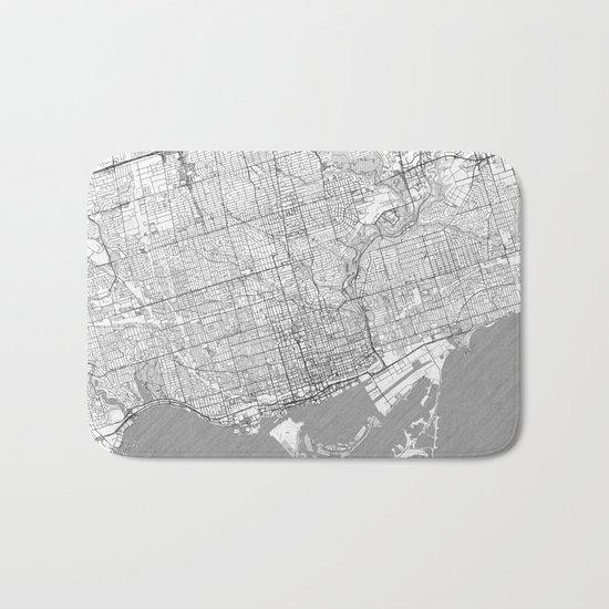 Toronto Map Line Bath Mat