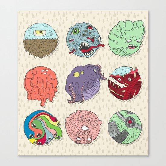 Monster Balls Canvas Print