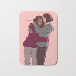 Girlfriends in hoodies Bath Mat