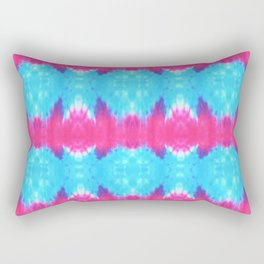 Summer Vibes Tie Dye in Pink Turquoise Rectangular Pillow