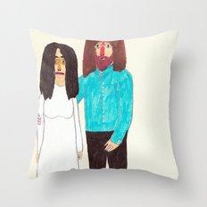 John & Yoko Throw Pillow