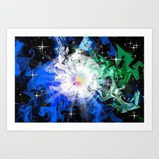 Chaos in the universe. Art Print