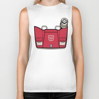 transformers Biker Tanks featuring Transformers - Sideswipe by CaptainLaserBeam