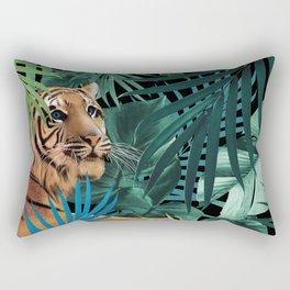 Tiger in the Jungle #1 #tropical #foliage #decor #art #society6 Rectangular Pillow