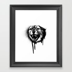 Cheetah Spray Paint Framed Art Print