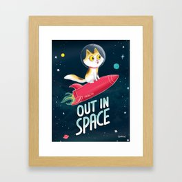 out in space Framed Art Print