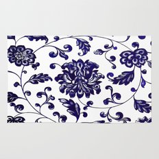 Chinese Floral Pattern Rug
