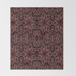 GOTHIC Red Unusual Rose Pattern Throw Blanket