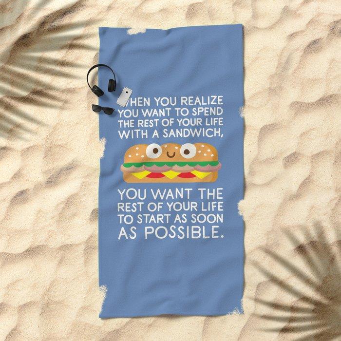 When Harry Met Sandwich Beach Towel