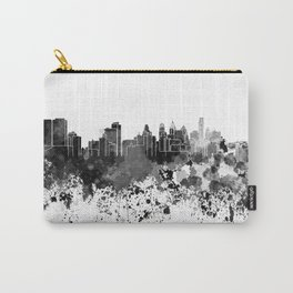 Philadelphia skyline in black watercolor Carry-All Pouch