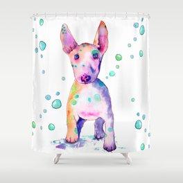 Terrier Bubbles Shower Curtain