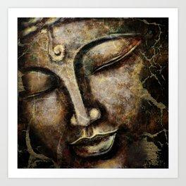 Buddha face painting Kunstdrucke