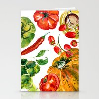 vegetable Stationery Cards featuring Vegetable mix by Liliya Kovalenko
