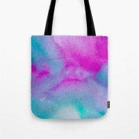 aurora Tote Bags featuring Aurora by elena + stephann