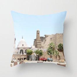 Temple of Luxor, no. 14 Throw Pillow