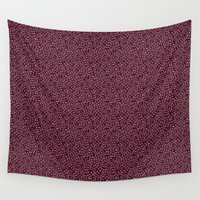 burgundy Wall Tapestries featuring Burgundy by Lisi Fkz