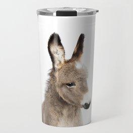 Baby Donkey, Baby Animals Art Print By Synplus Travel Mug