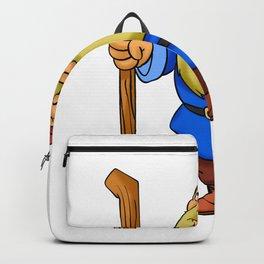 Cute Cartoon Garden Gnome Backpack