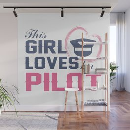 Loves Her Pilot Wall Mural