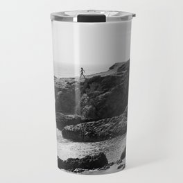 Leo Carrillo State Beach | Malibu California | Black and White Photography | Malibu Photography Travel Mug
