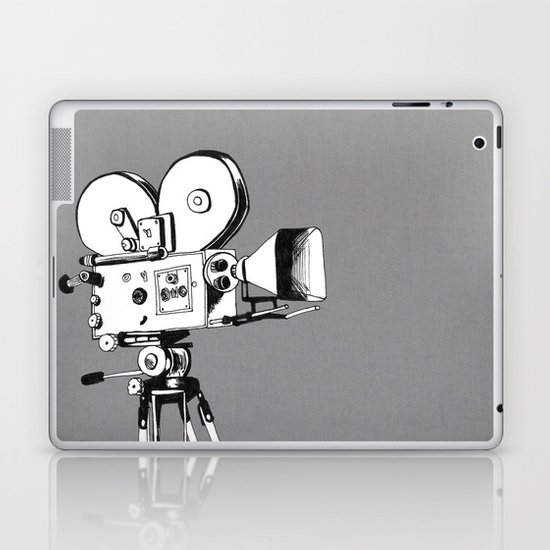 vintage filming Laptop & iPad Skin