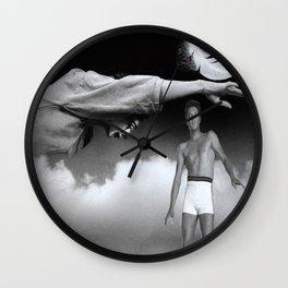 Elvis in Heaven Wall Clock