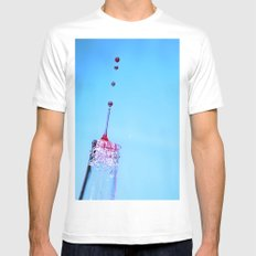 dripping White Mens Fitted Tee MEDIUM