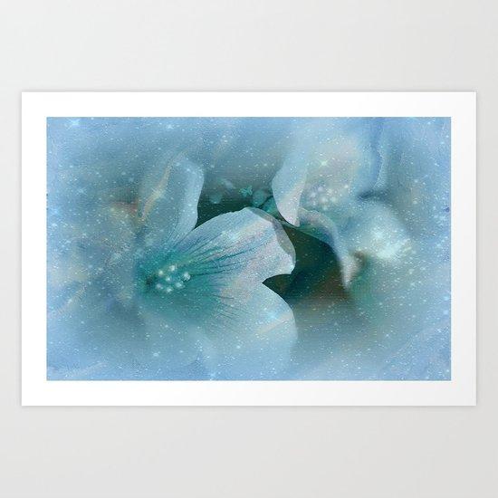 HEAVENLY BLUE FLOWERS Art Print