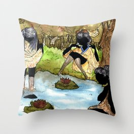 Shadow Dip Throw Pillow