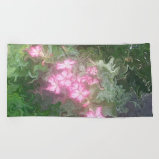 Pretty Love Flowers Beach Towel