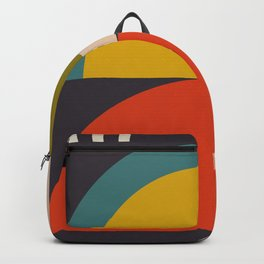 mid century bauhaus geometric large 3 Backpack