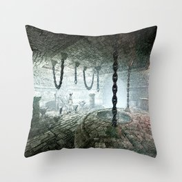 torture room Throw Pillow
