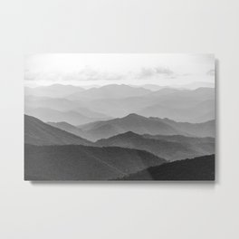 Forest Fade - Black and White Landscape Nature Photography Metal Print