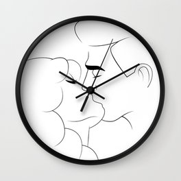 Lineart Lovers Wall Clock