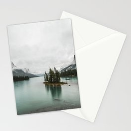 Landscape Photography | Spirit Island | Maligne Lake | Jasper Alberta | Emerald Water | Wall Art Stationery Cards