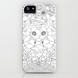 Mirrored Flowers iPhone Case