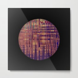 Glitchy pattern Metal Print