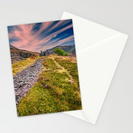 Quarry Sunset Snowdonia Stationery Cards