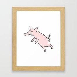 Pig Love Framed Art Print