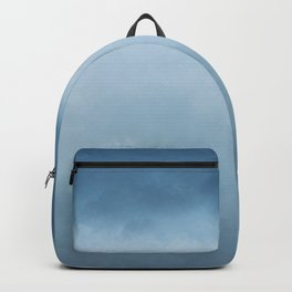 Hope Above the Clouds 2 Steel Blue Gray - Abstract Art Series Backpack