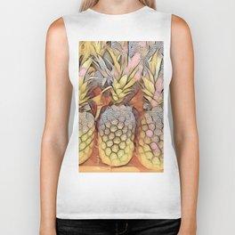 Stippled Pineapples Biker Tank