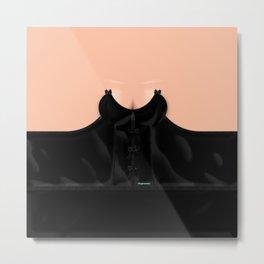 Lingeramas - Sexy Black Lingerie Top Metal Print