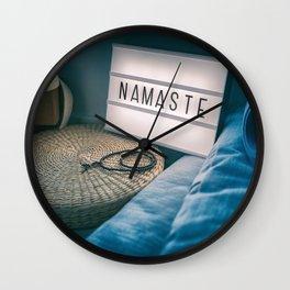Namaste Yoga Class Meditation Wall Clock