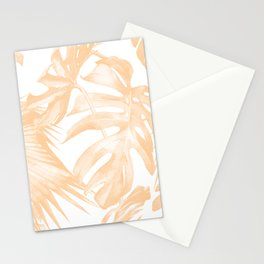 Island Vacation Hibiscus Palm Coral Stationery Cards